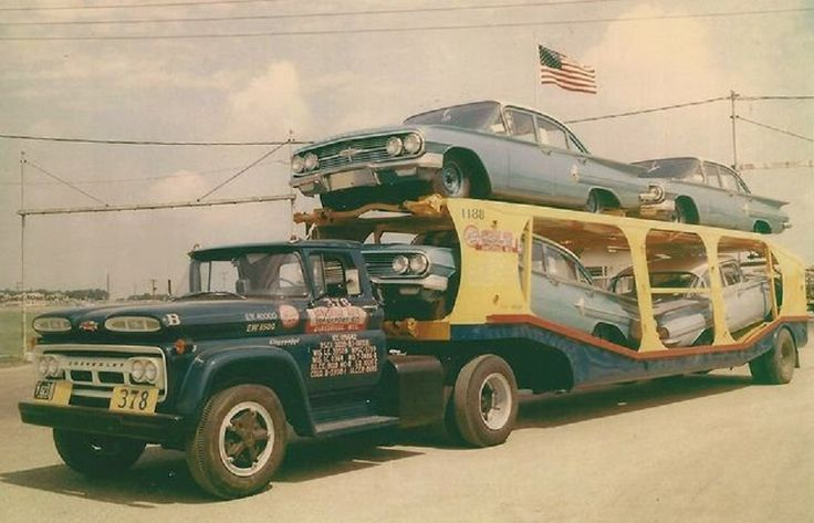 1960 Chevrolet C60 Truck with Car Carrier Trailer