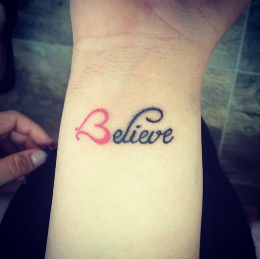 """I don't like tattoos but I love some of the art ----------""""Believe""""   19 Tattoos That Literally Everyone Got In 2014"""