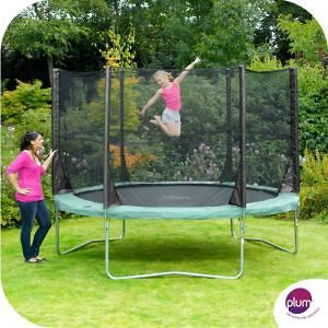 Plum Space Zone 10FT Trampoline with Enclosure