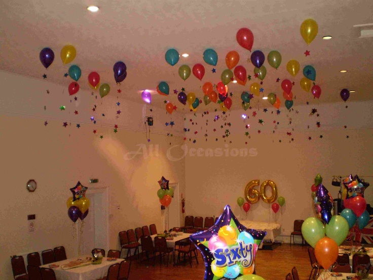 Balloon decorations for high ceilings i love the stars for Balloon decoration for ceiling