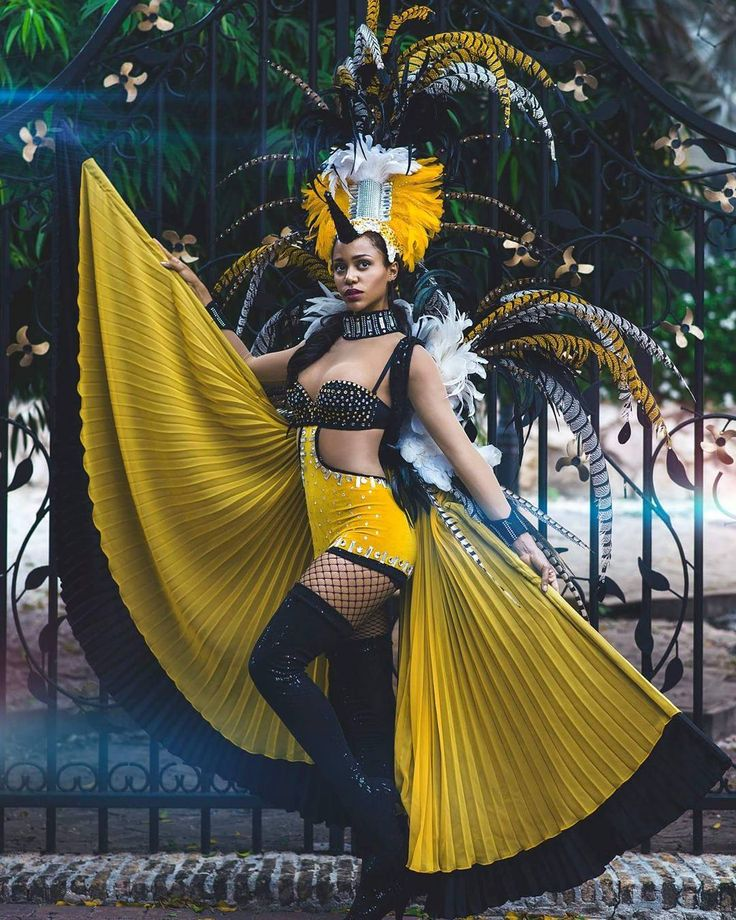 #NationalCostume @chanelledelau Curaçao's national bird is the yellow breasted oriole (Trupial Kachó). Locals say its a relative of the orange breasted oriole (Trupial). Trupial is a messenger of good news and a sign of good luck. #missuniverse #MissCuracao #ConfidentlyBeautiful #costume #bird #65thmissuniverse #curacao