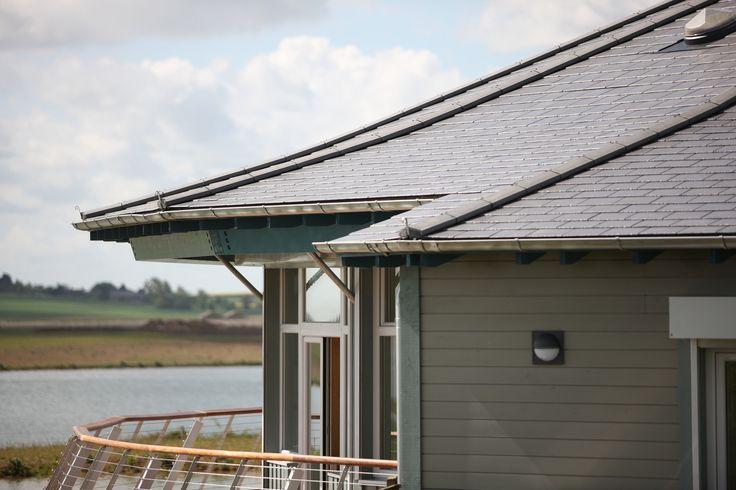 Abberton Reservoir Visitors Centre showcasing Redland's Cambrian Slate.