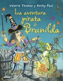 En este libro Brunilda es un pirata y Bruno no es su gato, sino su loro. La bruja Brunilda es un atractivo personaje que siempre se ve envuelto en desternillantes situaciones y al que en pocas ocasiones le son de provecho sus poderes mágicos. Los hechizos suelen traerle consecuencias inesperadas, y justamente este hecho es el que hace que sus historias resulten tan divertidas para el público infantil. http://rabel.jcyl.es/cgi-bin/abnetopac?SUBC=BPSO&ACC=DOSEARCH&xsqf99=1762475