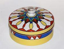 Noritake klasická japonská Art Deco Porcelán Kryté Dresser Jar Box