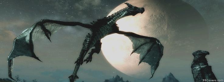 Skyrim Dragon 3 Facebook Covers