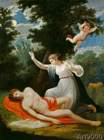 Pyramus & Thisbe in Art.  I found the Cupid in the background quite interesting.  It is Cupid, but can also be an angel foreshadowing Thisbe's death that comes in the next scene.