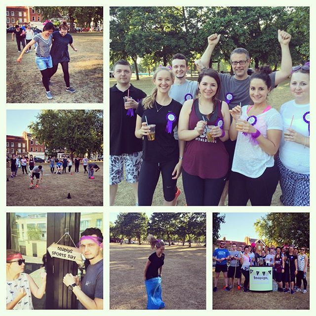 The very first teapigs sports day was a GREAT success (very little cheating and minimal tears) Big congrats to the purple team on their victory.. The pinks will return victorious next year for sure! #tealife
