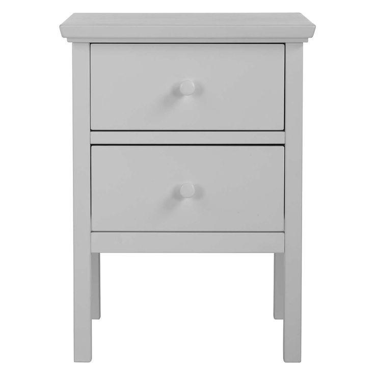 BuyJohn Lewis Wilton 2 Drawer Bedside Cabinet, Grey Online at johnlewis.com
