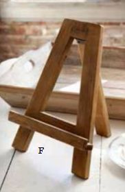 """Small Wooden Easel Dimensions  9"""" X 10"""" x 12"""""""