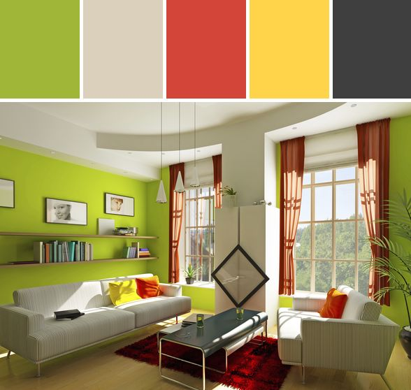 Bright Green Room Designed By Gwen Via Stylyze