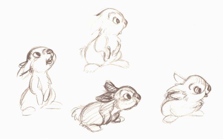disney bambi concept art 2D animation thumper Character Design ...