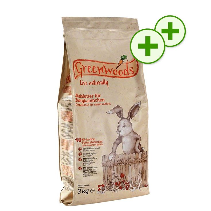 Animalerie  Nourriture Greenwoods  points bonus doublés  lapin nain (3 kg)