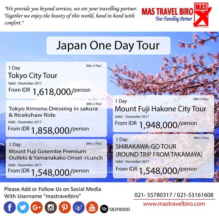 Japan One Day Tour, yukk booking di Mastravelbiro 👇 Phone : 021 55780317 WA : 081298856950 Email : tourhotel.metos@mastravelbiro.com  #mastravelbiro #promotravel #travelagent #tourtravel #japan