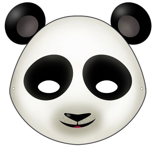 Download this mask here: http://it.piccolini.com/maschere-carnevale/2012/il-panda-tenerone/
