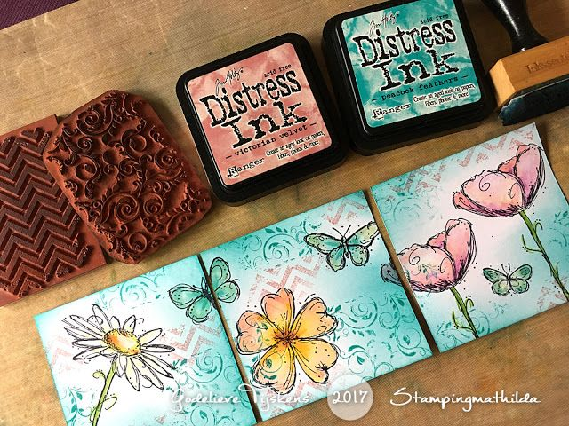 Darkroom Door Fine Butterflies and Fine Flowers Vol 2 Stamp Sets