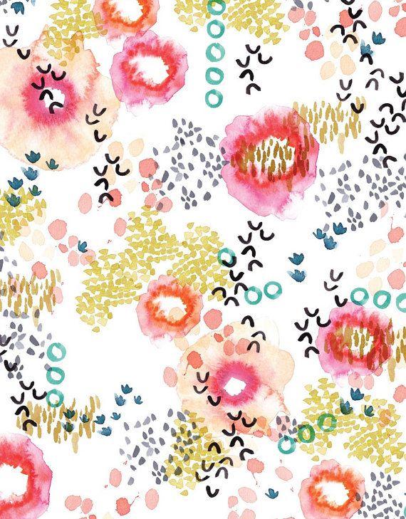painted garden | kelly ventura | • Paint || Watercolor • | Surface pattern design, Pattern Illustration, Watercolor art
