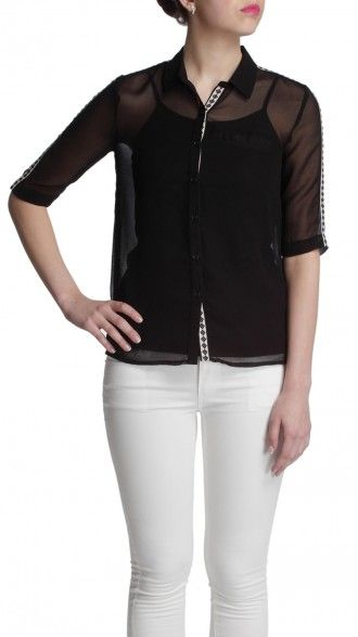 sbuys - Blouse with Jacquard Tape on side #sbuys #spring #aztec #jacquard Shop now at www.sbuys.in