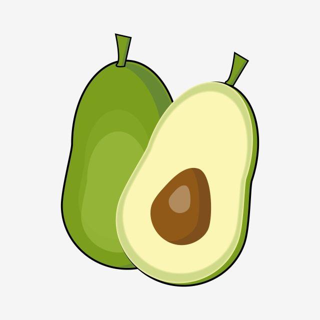 Avocado Design Clipart Vector Png Element Avocado Avocato Fruit