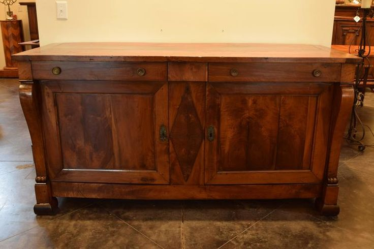 French Directoire Style Two-Drawer, Two-Door Walnut Buffet, circa 1840 2