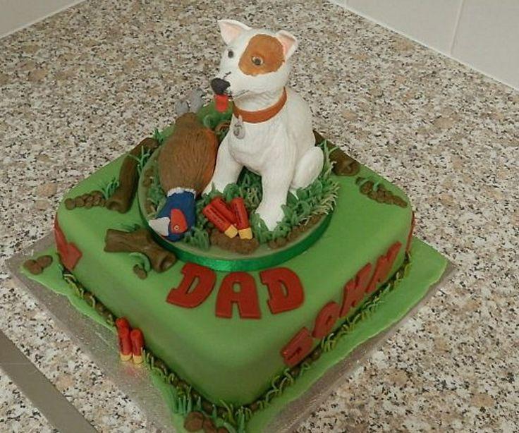 Gun Dog Cake withTopper