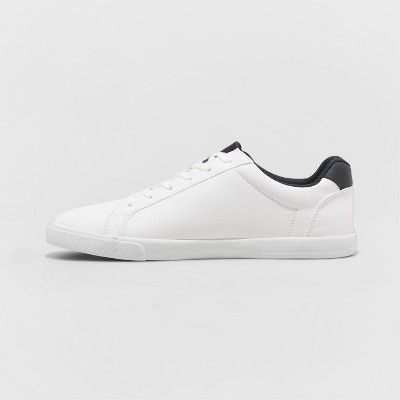 Men's Jared Lo Pro Tennis Shoe - Goodfellow & Co White 9.5