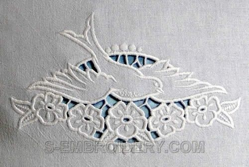 Cutwork Embroidery • this design was on a pair of pillow slips that my Grandma had.