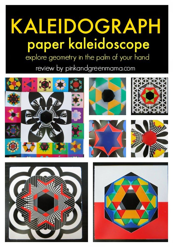 Kaleidograph - Paper Kaleidoscope Toy to Explore Geometry, Color, and Pattern in the Palm of Your Hand!