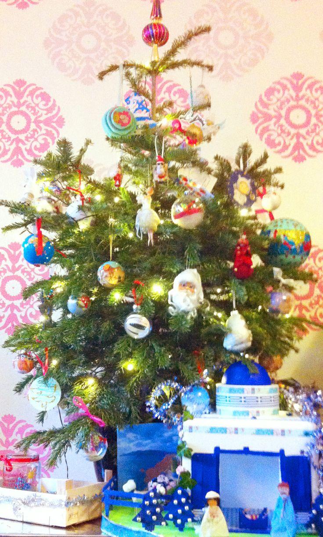 Mijn prachtige kerstboom op 19 december.