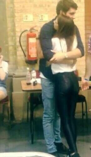 Doesn't this look like a man with a really long beard and a navy shirt. Then you look at it and realize that it's actually a Zalfie hug.