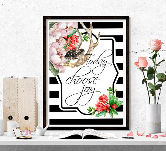 $4 Today Choose Joy printable watercolor printable by SoulPrintables