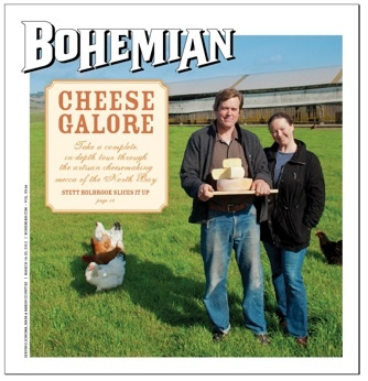 Article in the Bohemian - Stett Holbrook wrote a wonderful article on Sonoma and Marin county cheesemakers for this Sonoma weekly. It's a terrific portrait of how things got going in the early days and some great reflections from the California pioneers in cheese.  We get a tiny (and flattering) mention at the end- just happy to be at the table with the big people!