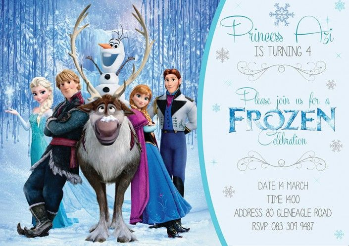 Frozen birthday party invitation design by Very Cherry Design Studio