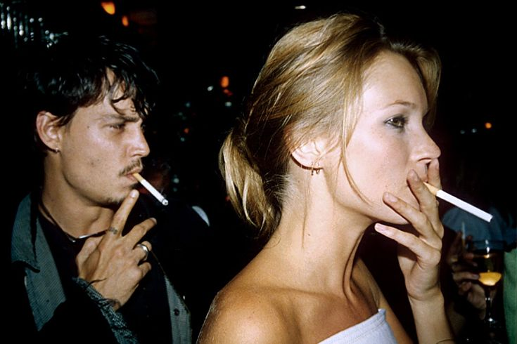 13 rarely seen photos of johnny depp and kate moss kate