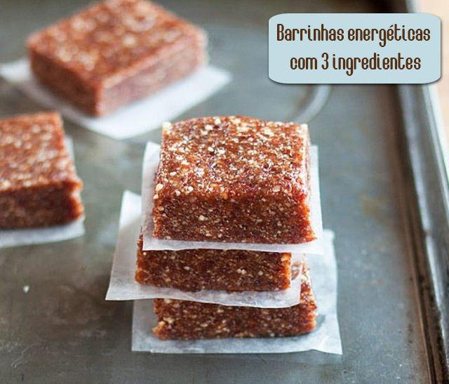 PANELATERAPIA - Blog de Culinária, Gastronomia e Receitas: Barrinhas Energéticas com 3 Ingredientes