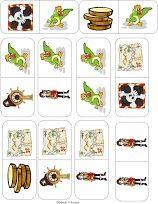Piraten domino, pirates game, free printable 3