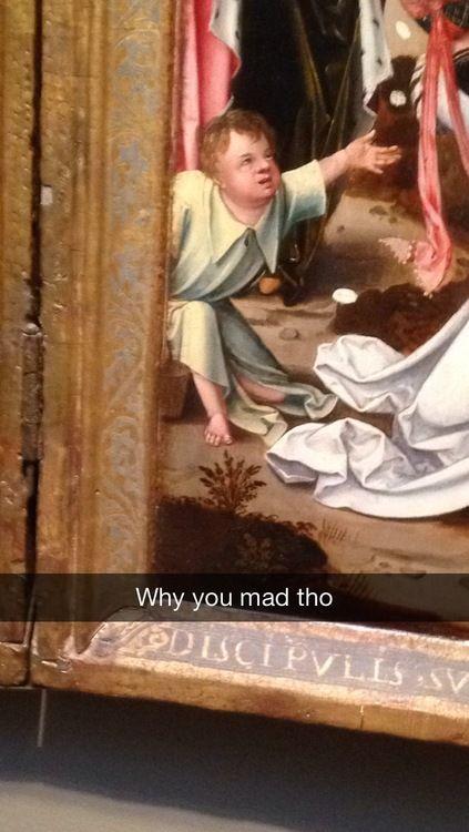35 Perfectly Inappropriate Art History Snapchats Guaranteed To Make You LOL!