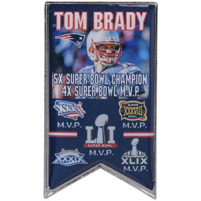 New England Patriots Tom Brady Super Bowl LI Champions Player History Pin