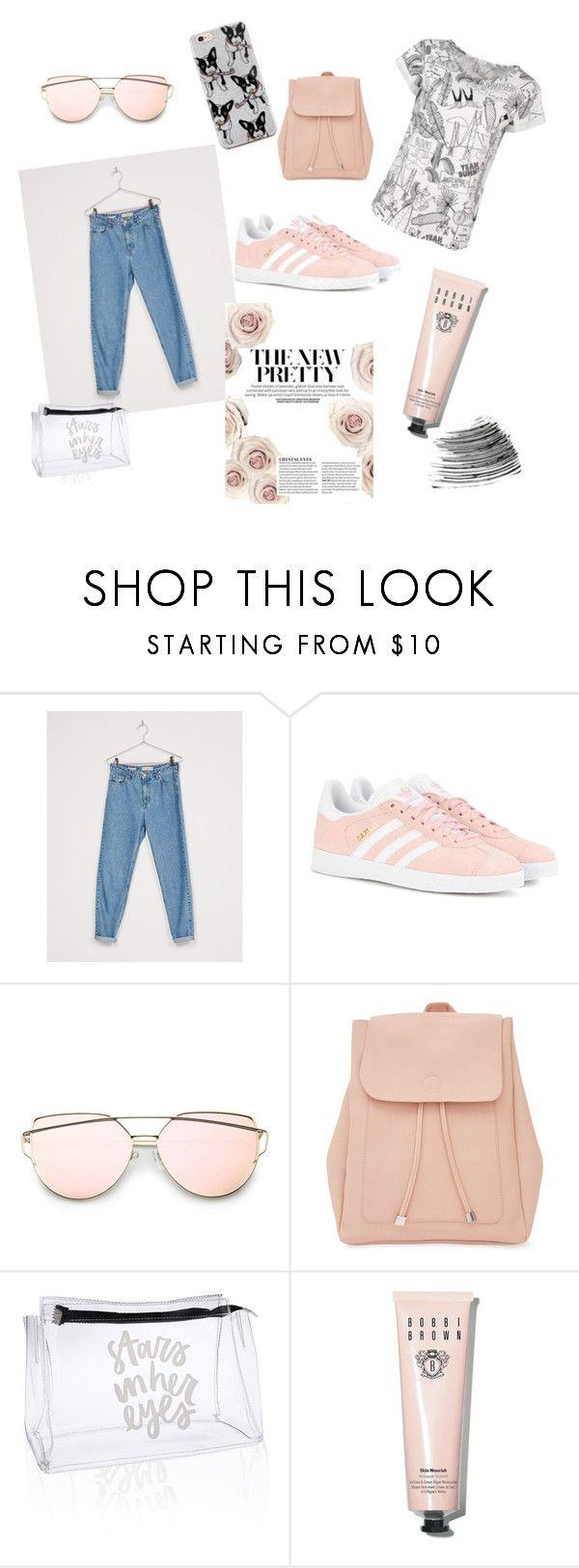"""YB Drawing"" by ellesdi on Polyvore featuring moda, Bershka, adidas Originals, New Look i Bobbi Brown Cosmetics"