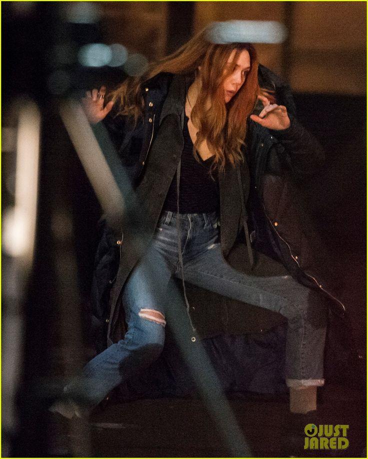 Elizabeth Olsen desde el set de rodaje de Avengers: Infinity War