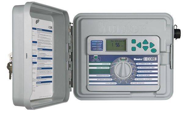Hunter IC-600-PL I-Core 6 Station Outdoor Controller w/Plastic Cabinet