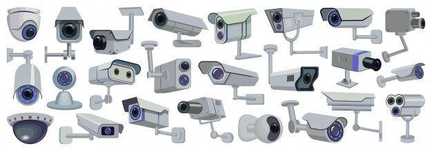 Desenho De Câmera De Vídeo Definir ícone. Ilustração Controle De Vigilância Em Fundo Branco. Desenhos Animados Definir ícone Câmera De Vídeo. | Câmera de vídeo, Fundo branco, Câmera