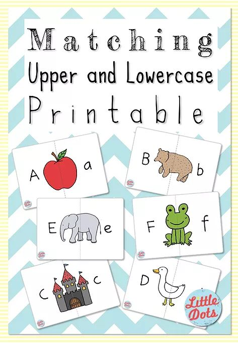 Free Printable: Matching Uppercase and Lowercase Letters | Little Dots Education | Preschool Printables and Activities