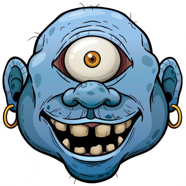 Cara De Monstruo De Dibujos Animados Vec Premium Vector Freepik Vector Halloween Posteres Ilustraciones Dibujos Dibujos Psicodelicos