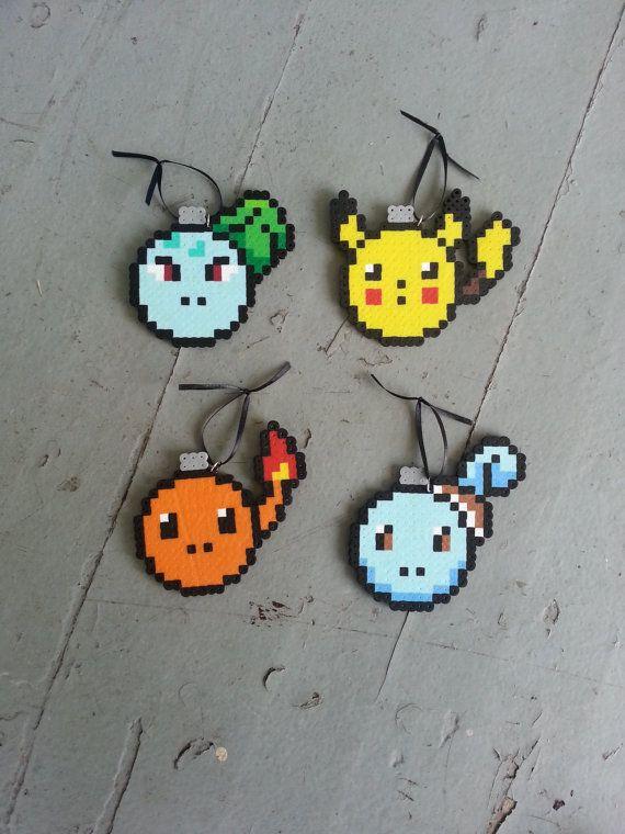 Pokemon Christmas Bulbs by BurritoPrincess on Etsy