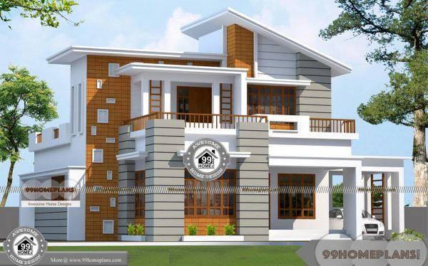 2 Story Townhouse Designs And Most Beautiful And Conventional Plans Kerala House Design Unique House Plans Beautiful House Plans