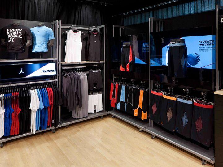 SPORTSWEAR STORES! Jordan store interactive display by Michael Eaton