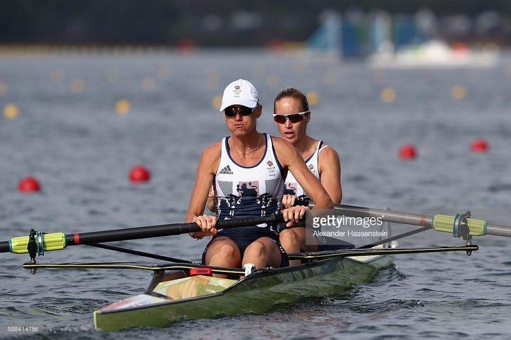 Helen Glover and Heather Stanning of Great Britain compete in the Women's Pair…