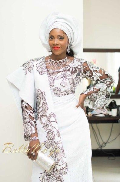 white aso oke | nigerian wedding | african wedding | Tiwa Savage