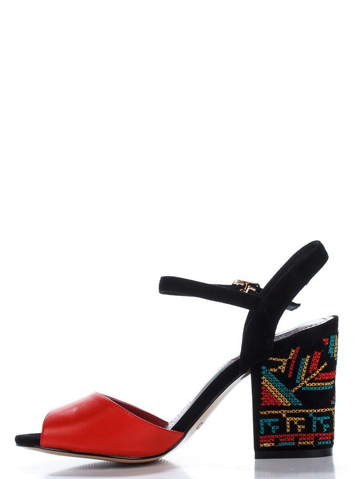 Босоножки красно-черные - Prego 2123672