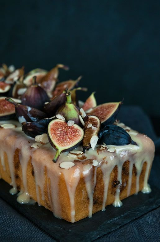 Fig Almond Tea Cake with Coconut Honey Glaze~ could make the sponge gluten free orange and almond